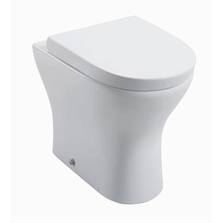 Cedar Back to Wall Pan & Wrap Over Toilet Seat with Soft Close