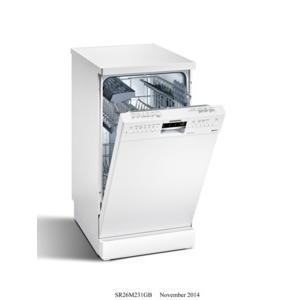 Siemens SR26M231GB  slimline Freestanding 9 place  Dishwasher in White