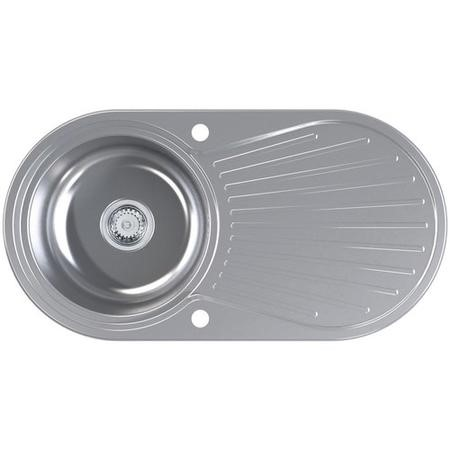 Astracast SU0948SV Round Single Bowl Reversible Stainless Steel Kitchen Sink & Drainer