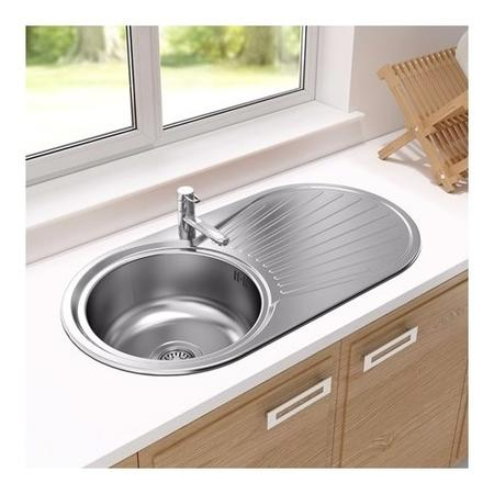 Astracast SU0948SV Round Single Bowl Reversible Stainless Steel ...