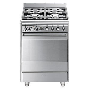 Smeg SUK61MX8 Concert 60cm Single Oven Dual Fuel Cooker - Stainless Steel
