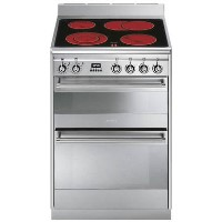 Smeg Concert 60cm Electric Cooker - Stainless Steel Best Price, Cheapest Prices
