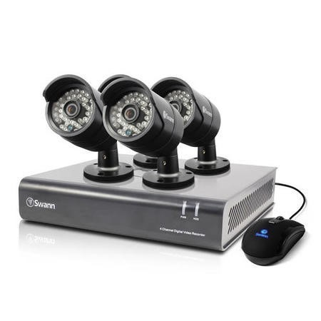 Swann DVR4-4400 4 Channel HD 720p Digital Video Recorder with 4 x PRO-A850 720p Cameras & 500GB Hard Drive