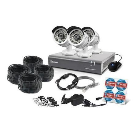 Box Opened A1 Swann DVR8-4600 - 8 Channel CCTV HD 1080p Digital Video Recorder & 4 x PRO-A855 Cameras & 2TB Hard Drive