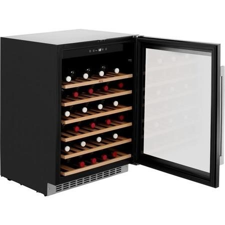 AEG SWE66001DG Built-in Under Counter 46 Bottle Wine Cellar For Optimal Wine Storage - Black Framed Glass Door