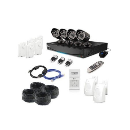 Swann DVR8-3425 8 Channel CCTV Security System 960H Digital Video Recorder 4 x PRO-735 Cameras 7 Alarm Sensors & Siren