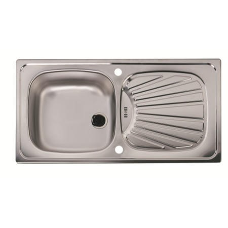 Astracast SX0843SX Spacesaver Single Bowl Reversible Drainer Satin Polish Stainless Steel Sink