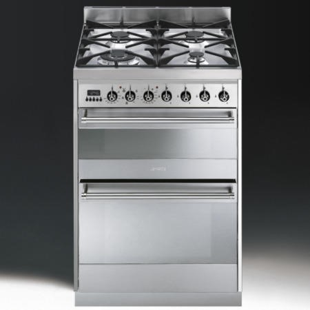 Smeg SY62MX8 Symphony Dual Cavity 60cm Dual Fuel Cooker Stainless Steel