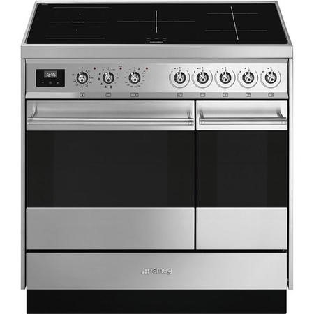Smeg Symphony 90cm Electric Range Cooker with Induction Hob - Stainless Steel