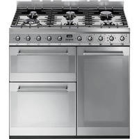 Smeg SY93 Symphony Triple Cavity 90cm Dual Fuel Range Cooker Stainless Steel