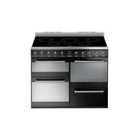 Smeg SYD4110IBL Symphony Four Cavity 110cm Electric Range Cooker With Induction Hob Black