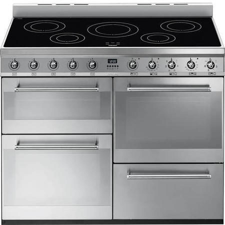 Smeg SYD4110I Symphony Four Cavity 110cm Electric Range Cooker With Induction Hob Stainless Steel