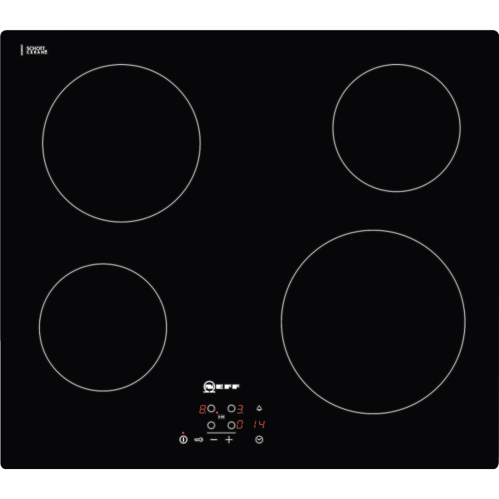 638e8dd0488 Neff T10B40X2 N50 59cm Wide Touch Control Four Zone Ceramic Hob - Black  T10B40X2