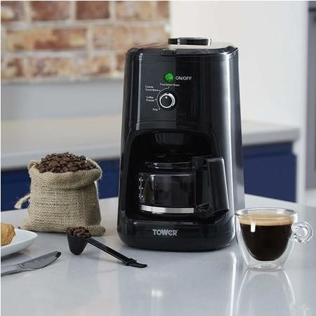 Tower T13005 Bean To Cup Coffee Machine - Black