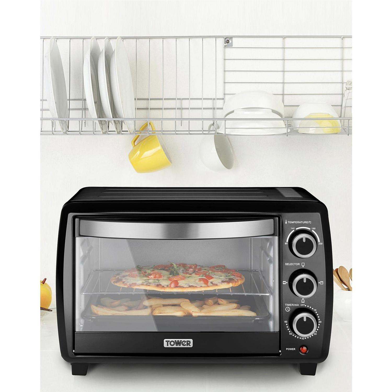 Tower T14012 23L Mini Oven - Black | Appliances Direct