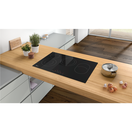 Neff T18FD36X0 N70 80.2cm TouchControl Four Zone Ceramic Hob - Black Glass With Bevelled Front Edge