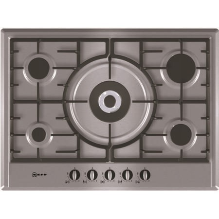 Neff T25S56N0GB 70cm Five Burner Gas Hob - Stainless Steel