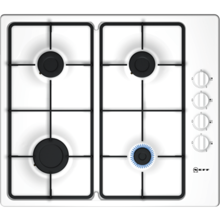 Neff T26BR46W0 N30 58cm Four Burner Gas Hob With Side Controls - White