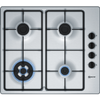Neff T26BR56N0 N30 58cm Four Burner Gas Hob Stainless Steel Best Price, Cheapest Prices