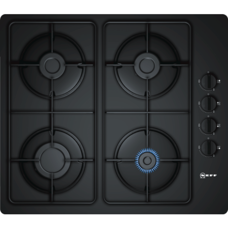 Neff T26CR48S0 N30 59cm Four Zone Gas Hob - Black