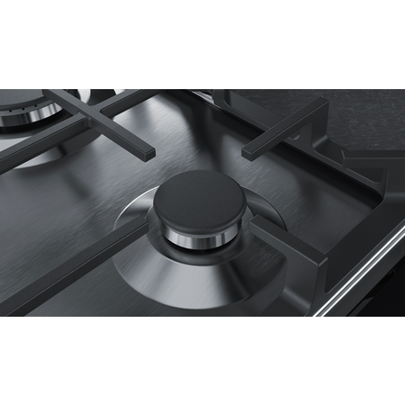 Neff T26DA49N0 N70 59cm Four Zone Gas Hob Stainless Steel With Cast Iron Pan Stands