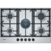 Neff T27DS59N0 N70 75cm Five Burner Gas Hob Stainless Steel With Cast Iron Pan Stands