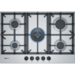 GRADE A2 - Neff T27DS59N0 N70 75cm Five Burner Gas Hob Stainless Steel With Cast Iron Pan Stands