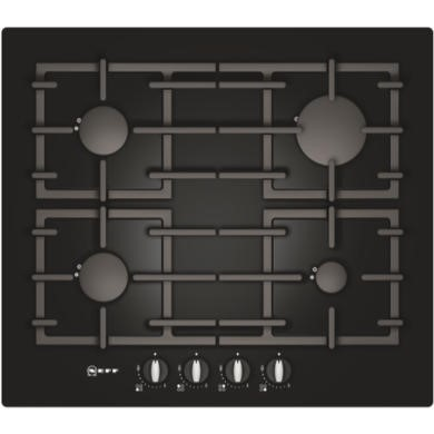 Neff T62S26S1 Series 2 59cm Glass Base Gas Hob in Black