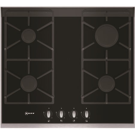 Neff T66S66N0 Series 4 60cm Gas-on-glass Hob with FSD