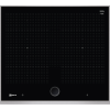 Neff T66TS6RN0 TwistPad Fire Control 56cm Induction Hob With FlexInduction Zones - Black With Stainless Steel Frame