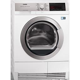 AEG T97689IH3 9Series AbsoluteCare 8kg Freestanding Heat Pump Condenser Tumble Dryer White