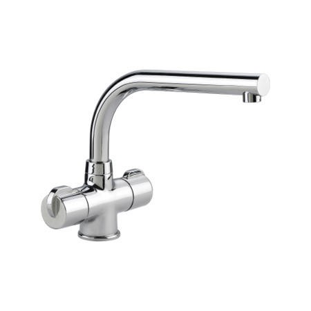 Rangemaster Aquadisc 3 Brushed Steel Monobloc Traditional Tap