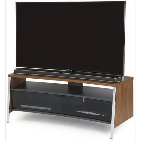 Off The Wall Curved 1300 Dark Wood TV Cabinet - Up to 55 Inch