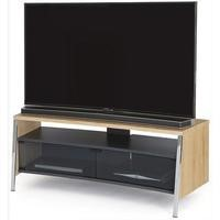 Off The Wall Curved 1300 Light Wood TV Cabinet - Up to 55 Inch