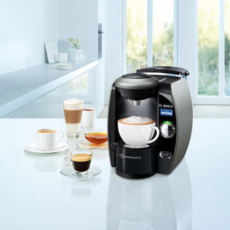 Bosch TAS4011GB Tassimo Automatic Hot Drinks Machine In Silver And Black Appliances Direct