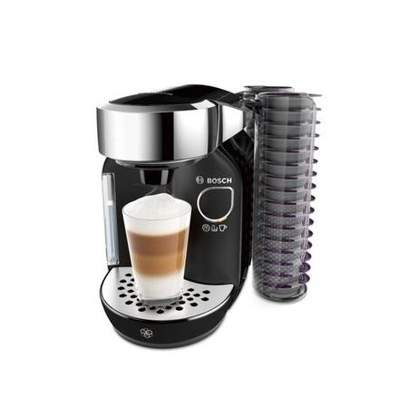 Bosch TAS7002GB Tassimo Caddy Hot Drinks Machine - Black & Chrome
