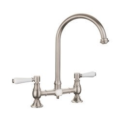 Rangemaster Belfast Traditional Brushed Steel Deck/bridge Tap