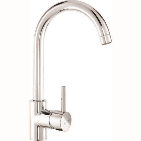 CDA TC57CH Single Lever Mixer Tap with Swan Neck