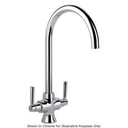Rangemaster Cruciform Brushed Steel Monobloc Contemporary Tap