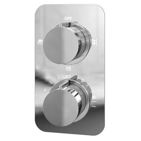 Thermostatic Concealed Shower Valve - Triple Function