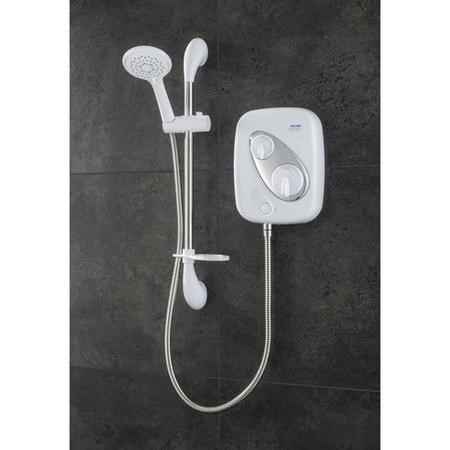 Triton Showers Thermostatic Power Shower - White