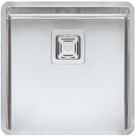 Reginox TEXAS40X40 1.0 Bowl Integrated Stainless Steel Sink With Square Basket Strainer