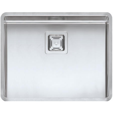 Reginox TEXAS50X40 Large 1.0 Bowl Integrated Stainless Steel Sink With Square Basket Strainer