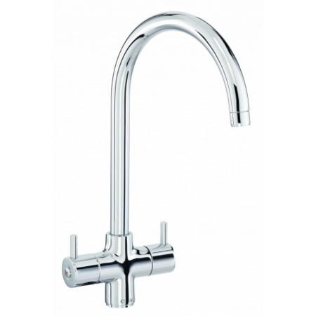 CDA TF55CH Contemporary Swan Neck Filter Dual Flow Tap In Chrome