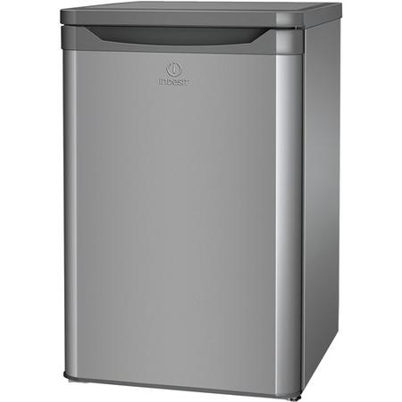 Indesit TFAA10S Under Counter Freestanding Fridge with Ice Box - Silver