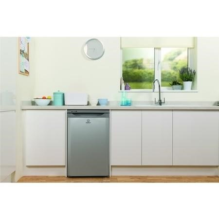 Indesit TFAA10S 55cm Wide Freestanding Under Counter Fridge - Silver