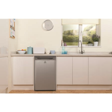 Indesit TFAA10 Upright Freestanding Fridge with Ice Box - White