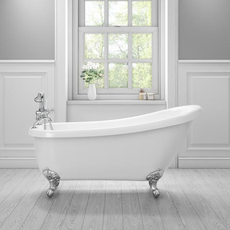 Winstanley Traditional Slipper Style Freestanding Bath with Ball & Claw Feet - 1690 x 720 x 770mm