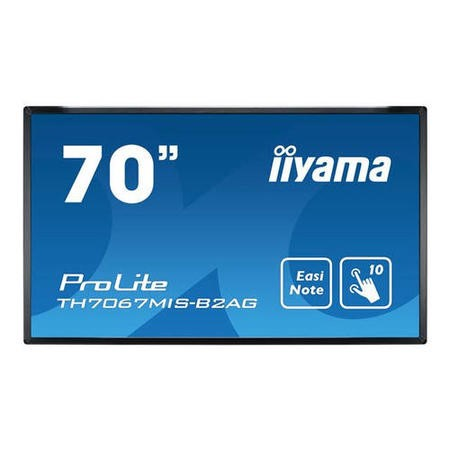 Iiyama TH7067MIS-B2AG 70 Inch; Black LCD Full HD Large Format Display 1920 x 1080 24/7 operation 350 cd/m2