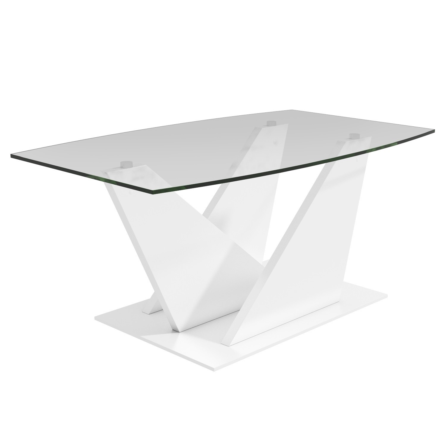 Tiffany White High Gloss Square Coffee Table Furniture: Glass Coffee Table With White High Gloss Stand